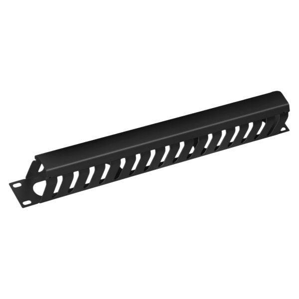 Panneau intercalaire guide cordons 1U 19 Rack, Metal