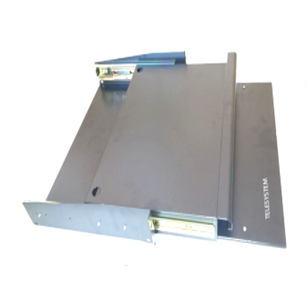 2U height keyboard tray with mouse panel