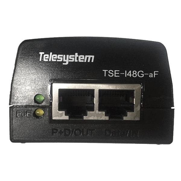 TSM-I48G-aF_FT 10 100 1000Mbps PoE Injector