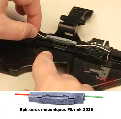 Soudure mecanique de fibre otpique